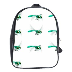 Flying Dragonfly School Bags(large)  by Jojostore