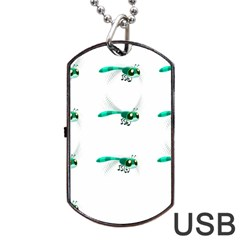 Flying Dragonfly Dog Tag Usb Flash (two Sides) by Jojostore