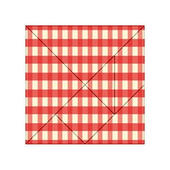 Gingham Red Plaid Acrylic Tangram Puzzle (4  X 4 ) by Jojostore