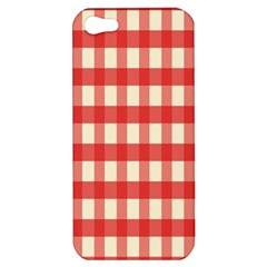 Gingham Red Plaid Apple Iphone 5 Hardshell Case by Jojostore