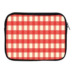 Gingham Red Plaid Apple Ipad 2/3/4 Zipper Cases by Jojostore