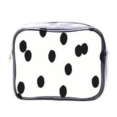 Gold Polka Dots Dalmatian Mini Toiletries Bags by Jojostore