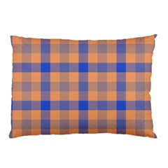 Fabric Colour Orange Blue Pillow Case by Jojostore