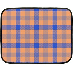 Fabric Colour Orange Blue Double Sided Fleece Blanket (mini)  by Jojostore