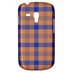 Fabric Colour Orange Blue Galaxy S3 Mini by Jojostore