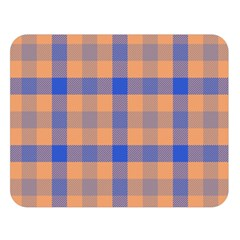 Fabric Colour Orange Blue Double Sided Flano Blanket (large)  by Jojostore
