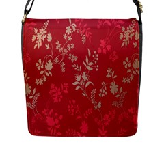 Leaf Flower Red Flap Messenger Bag (l)  by Jojostore