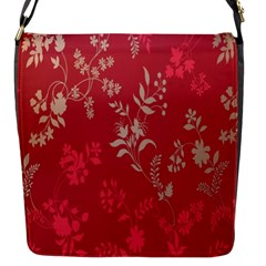 Leaf Flower Red Flap Messenger Bag (s) by Jojostore