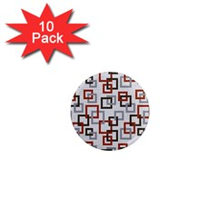 Links Rust Plaid Grey Red 1  Mini Magnet (10 Pack)  by Jojostore