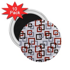 Links Rust Plaid Grey Red 2 25  Magnets (10 Pack)  by Jojostore