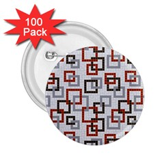 Links Rust Plaid Grey Red 2 25  Buttons (100 Pack)  by Jojostore