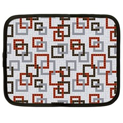 Links Rust Plaid Grey Red Netbook Case (large) by Jojostore