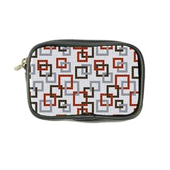 Links Rust Plaid Grey Red Coin Purse by Jojostore