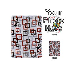 Links Rust Plaid Grey Red Playing Cards 54 (mini)  by Jojostore