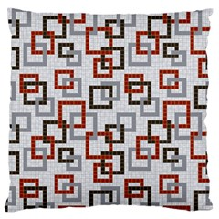 Links Rust Plaid Grey Red Large Flano Cushion Case (one Side)