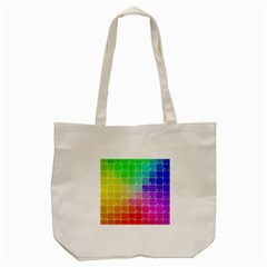 Number Alphabet Plaid Tote Bag (cream) by Jojostore