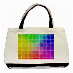 Number Alphabet Plaid Basic Tote Bag by Jojostore