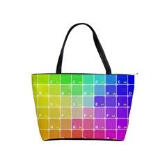 Number Alphabet Plaid Shoulder Handbags by Jojostore