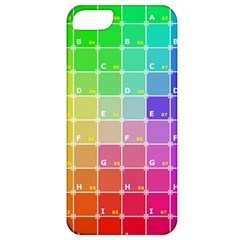 Number Alphabet Plaid Apple Iphone 5 Classic Hardshell Case by Jojostore