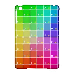 Number Alphabet Plaid Apple Ipad Mini Hardshell Case (compatible With Smart Cover) by Jojostore