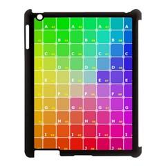 Number Alphabet Plaid Apple Ipad 3/4 Case (black) by Jojostore