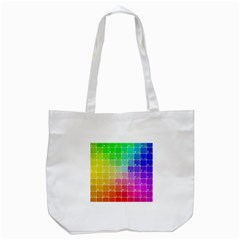 Number Alphabet Plaid Tote Bag (white) by Jojostore
