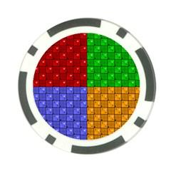 Number Plaid Colour Alphabet Red Green Purple Orange Poker Chip Card Guard (10 Pack) by Jojostore