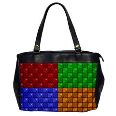 Number Plaid Colour Alphabet Red Green Purple Orange Office Handbags by Jojostore