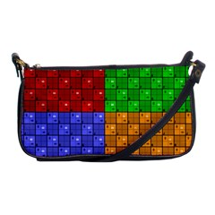 Number Plaid Colour Alphabet Red Green Purple Orange Shoulder Clutch Bags by Jojostore