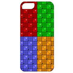 Number Plaid Colour Alphabet Red Green Purple Orange Apple Iphone 5 Classic Hardshell Case by Jojostore
