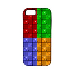 Number Plaid Colour Alphabet Red Green Purple Orange Apple Iphone 5 Classic Hardshell Case (pc+silicone) by Jojostore