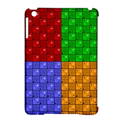 Number Plaid Colour Alphabet Red Green Purple Orange Apple Ipad Mini Hardshell Case (compatible With Smart Cover) by Jojostore