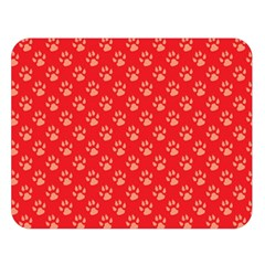 Paw Print Background Wallpaper Cute Paw Print Background Footprint Red Animals Double Sided Flano Blanket (large)  by Jojostore