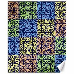 Puzzle Color Canvas 11  X 14   by Jojostore
