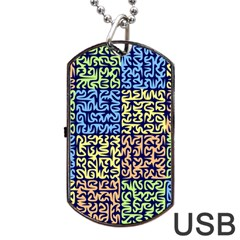 Puzzle Color Dog Tag Usb Flash (one Side) by Jojostore