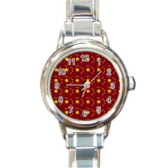 Chinese New Year Pattern Round Italian Charm Watch by dflcprints