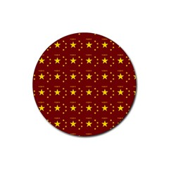 Chinese New Year Pattern Rubber Round Coaster (4 pack)