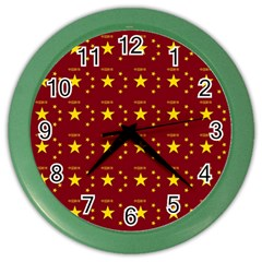 Chinese New Year Pattern Color Wall Clocks by dflcprints