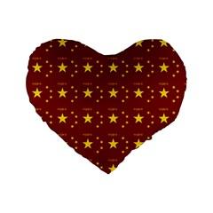 Chinese New Year Pattern Standard 16  Premium Heart Shape Cushions