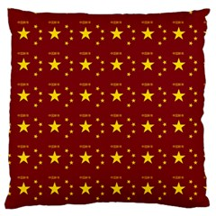 Chinese New Year Pattern Large Flano Cushion Case (Two Sides)