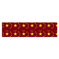Chinese New Year Pattern Satin Scarf (Oblong)