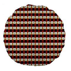 Queen Of Hearts  Hat Pattern King Large 18  Premium Flano Round Cushions by Jojostore