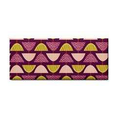 Retro Fruit Slice Lime Wave Chevron Yellow Purple Cosmetic Storage Cases by Jojostore