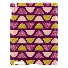 Retro Fruit Slice Lime Wave Chevron Yellow Purple Apple Ipad 3/4 Hardshell Case by Jojostore