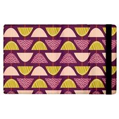 Retro Fruit Slice Lime Wave Chevron Yellow Purple Apple Ipad 3/4 Flip Case by Jojostore