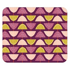 Retro Fruit Slice Lime Wave Chevron Yellow Purple Double Sided Flano Blanket (small)  by Jojostore