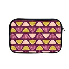 Retro Fruit Slice Lime Wave Chevron Yellow Purple Apple Macbook Pro 13  Zipper Case by Jojostore