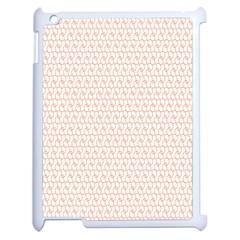Rose Gold Line Apple Ipad 2 Case (white) by Jojostore