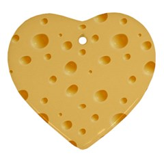 Seamless Cheese Pattern Heart Ornament (two Sides) by Jojostore