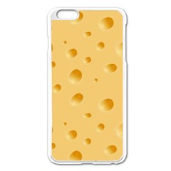 Seamless Cheese Pattern Apple Iphone 6 Plus/6s Plus Enamel White Case by Jojostore
